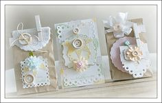card and party favors created using TCM stamps