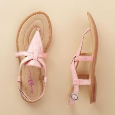 Aberlin Patent Sandals by Born Crown in PINK!!