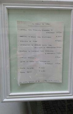 Il menu del giorno del Viavai