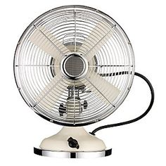 John Lewis Desk Fan, Cream