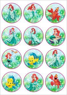 25 Digital Collage Sheet.Princess Ariel.Disney от LaVanda36