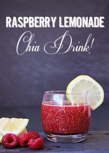raspberry lemonade chia drink
