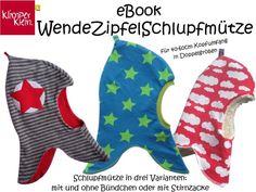 ebook WendeZipfelSchlupfmütze Schalmütze  von Klimperklein auf DaWanda.com