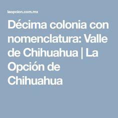 Décima colonia con nomenclatura: Valle de Chihuahua | La Opción de Chihuahua