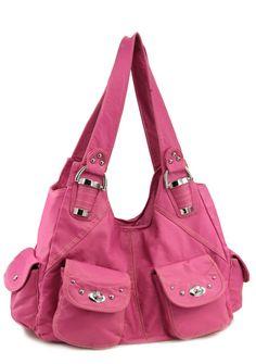 W1199PK- Stone Washed Handbag -pink [W1199PK- Stone Washed Handbag -p] : Maggie Handbag, Wholesale Fashion Handbags & Inspired by Handbags