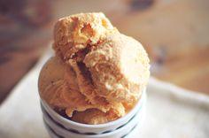 Pumpkin Cheesecake Ice Cream via Dashing Dish