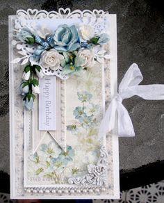 Love the corner die and flowers