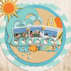 Kristin Cronin-Barrow & Julie Billingsley's Under The Sea Jady Day Studio's Summertime Fun- Hitting The Waves Julie Billingsley's A Quiver of Arrows Scrapbook Titles, Kids Scrapbook, Scrapbook Page Layouts, Scrapbook Paper Crafts, Scrapbooking Ideas, Scrapbook Blog, Vacation Scrapbook, Nautical Cards, Photo Sketch
