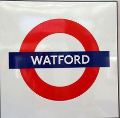 Watford, Metropolitan line London Underground Train, London Underground Stations, Metropolitan Line, London Transport, Watford, Badges, Trains, Centre, Palm