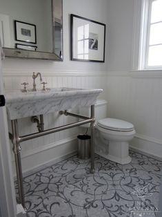 Love the floor.  Marabel bath floor in Thassos and Bardiglio.