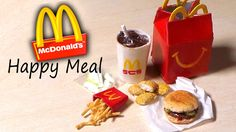 Miniature Happy Meal - McDonald's Inspired Polymer Clay Tutorial