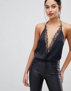 7596b427ebfbc DESIGN lace trim body in black. AsosTrendy FashionWomens ...