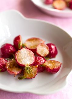 Brown butter and miso-glazed radishes