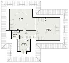 DOM.PL™ - Projekt domu TP Temida 3 CE - DOM TP1-46 - gotowy koszt budowy Bungalow, House Plans, Sweet Home, Floor Plans, How To Plan, Architecture, Home Decor, Two Story Houses, Rustic Homes