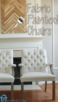 Fabric Painted Chairs.  That's bomb. Going to do this!