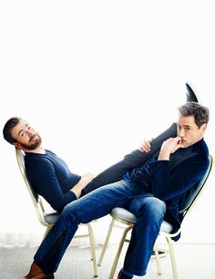 Chris Evans and Robert Downey Jr. photographed by Robert Trachtenberg for People Magazine (May 2016)