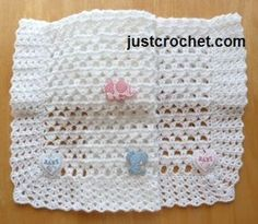 Free small baby blanket crochet pattern Free Small Baby blanket crochet pattern, hope you enjoy. http://www.justcrochet.com/small-baby-blanket-usa.html #justcrochet
