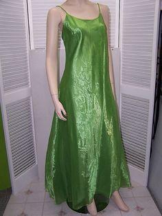 Vintage 1980's Jessica McClintock GUNNE SAX long green gown size 13 #JessicaMcClintockGunneSax