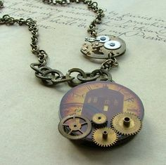 Doctor Who Steampunk Necklace from Etsy!