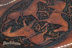 Celtic Horses Tooling Detail by Blackthornleather on DeviantArt