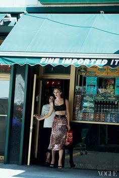 Sofia Sizzi and Raquel Zimmerman wearing Giulietta in Vogue