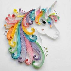 Never stop dreaming! | Quilling Unicorn