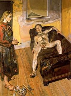 Painter and Model Lucian Freud Date: 1986 - 1987 Style: Expressionism Genre: genre painting Media: oil, canvas Tag: male-nude Lucian Freud Portraits, Lucian Freud Paintings, Sigmund Freud, Lucian Freud Kate Moss, Berlin, Artists And Models, A Level Art, Famous Artists, Art History
