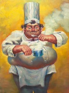 """""""It's All in the Sauce"""" by Christopher M. Fine Art Limited Edition, 20"""" x 15""""."""