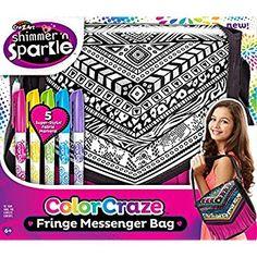 Amazon.com: Cra Z Art Funky Color Craze Fringe Messenger Bag: Toys & Games