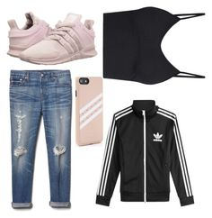 """""""running shoes!!"""" by tiffany-duque on Polyvore featuring adidas Originals, Gap and adidas"""