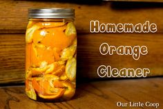 Our Little Coop: Homemade Orange Cleaner