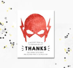 12 fully personalised the flash birthday party invitations or thank thank you cards the flash birthday invite the flash superhero birthday cards superhero the flash instant download motif visuals bookmarktalkfo Gallery