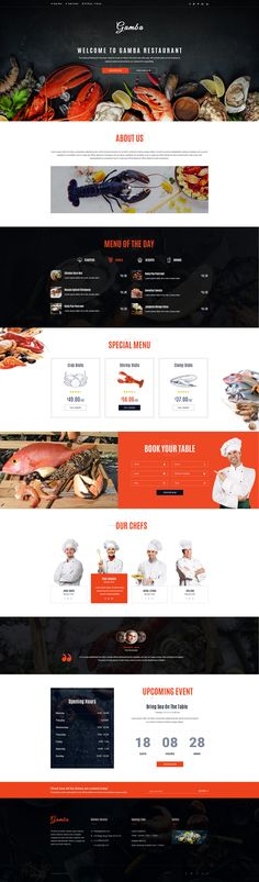 Gamba is a powerful, modern and creative PSD template, designed for food, bakery, cafe, pub & restaurant websites. The design is very elegant and modern, and also very easy to customize. Fully laye...