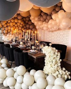Simple Birthday Decorations, Baby Shower Decorations Neutral, Balloons And More, The Balloon, The Perfect Daughter, Birthday Goals, 25th Birthday, Balloon Backdrop, Birthday Dinners