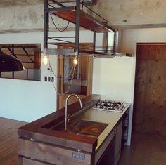 「リノベーション」 「男前」 「Kitchen」 が写っているtorinokoさんのインテリア実例写真を紹介します。2014-08-23 12:31:06に撮影されました。