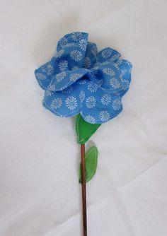 Fabric Flower Blue Color