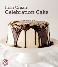 When you're celebrating a grown-up occasion, you deserve a grown-up cake. This beautiful creation uses Betty Crocker's SuperMoist devil's food cake mix, pudding and Irish liqueur (in both the cake and frosting) making it a spirited stunner of a dessert.