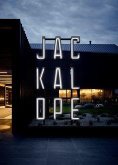 Fabio Ongarato Design – Brand identity for Jackalope Hotel Hotel Signage, Entrance Signage, Outdoor Signage, Exterior Signage, Hotel Branding, Wayfinding Signage, Signage Design, Facade Design, Branding Design