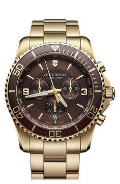 Victorinox Swiss Army® 'Maverick' Chronograph Bracelet Watch, 43mm