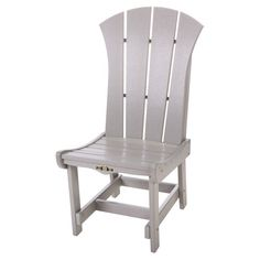 Pawleys Island Solid Colored Sunrise Outdoor Dining Side Chair - SRDC1GRY