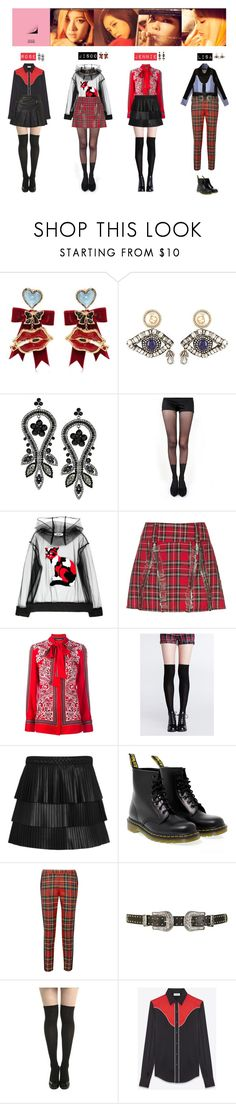 """BLACK PINK - PLAYING WITH FIRE❤"" by mabel-2310 ❤ liked on Polyvore featuring Dsquared2, Gucci, Topshop, Pretty Polly, MSGM, Alexander McQueen, Exclusive for Intermix, Dr. Martens, Moschino and Yves Saint Laurent"