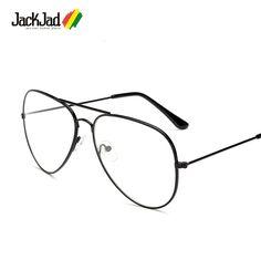 >> Click to Buy << JackJad Fashion Classic Vintage Aviator Style Metal Frame Plain Glasses Brand Design Eyewear Frame Glasses Frame Oculos De Grau #Affiliate
