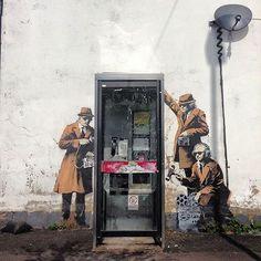 StreetArt des Tages : Banksy in Cheltenham | GCHQ - NSA Stencil Art ( 4 Bilder ) | Atomlabor Wuppertal Blog