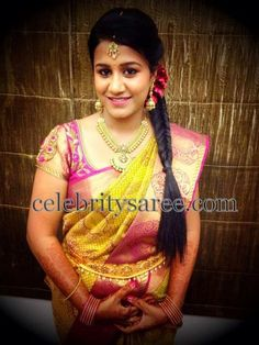 Real Bride in Maggam Work Blouse | Saree Blouse Patterns