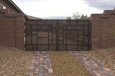 'Viva' design - wrought iron driveway gate Wrought Iron Driveway Gates, Iron Work, Shed, Outdoor Structures, Doors, Gallery, Artist, Design, Home Decor