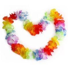 10 pcs Hawaiian Beach Luau Party Flower Garland Lei Leis Necklace Colorful Deco: Amazon.co.uk: Beauty