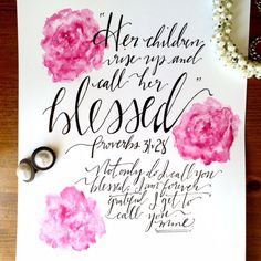 """Need a unique gift for your mom or an """"other mother"""" in your life? Check out this gorgeous watercolor print from karenehman.com {order by May 5th to guarantee arrival by Mothers Day with standard shipping}"""