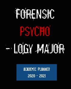 Designed for forensic psychology majors with its Forensic Psycho - logy Major cover, this invaluable academic planner runs July 2020 through December 2021. Not only does this weekly planner help you keep on top of your to-do list and up to speed with your schedule but also gives you space to cultivate positive mental health by expressing gratitude. #PsychologyGifts #psychology #AcademicPlanner #GiftsForForensicPsychologists #GiftsForForensicPsychologyMajors #ForensicPsychologyMajors Forensic Psychology, Psychology Major, Psychology Student, Forensic Science, Positive Mental Health, Academic Planner, Forensics, Weekly Planner, Gratitude
