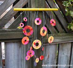 Washer Windchimes  Good idea for Nonno's garden!