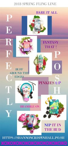 GIVE your BODY some TLC with the all NEW 2018 Spring FLING LINE from POSH... #pinkiesup #bareitall #beauty #fantasy #spring #summer #girltrends #trends #girl #pamper #spa #natural #cucumber #berries #island #JOIN https://shannoncrispinhall.po.sh #valentinesgifts